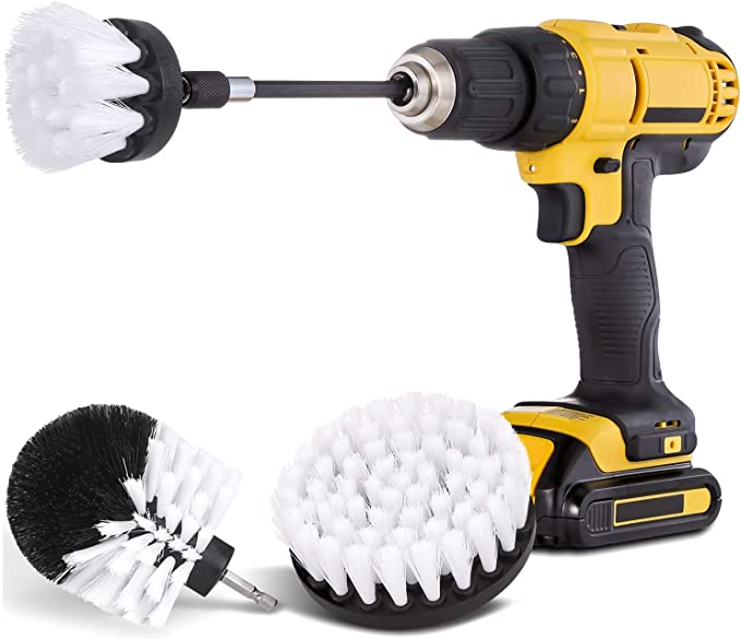 5 Inch Soft Drill Brush Attachment For Cleaning Carpet /& Leather And Upholstery