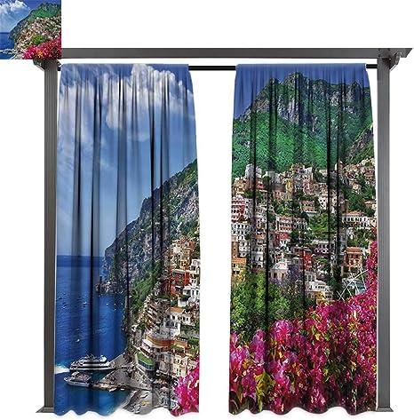 bybyhome Cortina para Puerta de Exterior Italia Porche con ...
