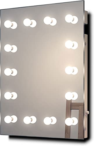 Diamond X Wallmount Hollywood Makeup Mirror with Dimmable LED k412WW