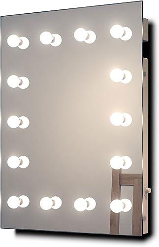 Diamond X Wallmount Hollywood Makeup Mirror