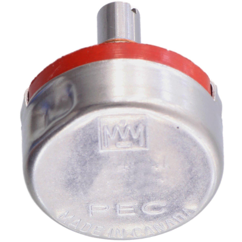 Precision Electronics Series K Slotted Solid Shaft 2 Watt Potentiometer 25K Log//Audio