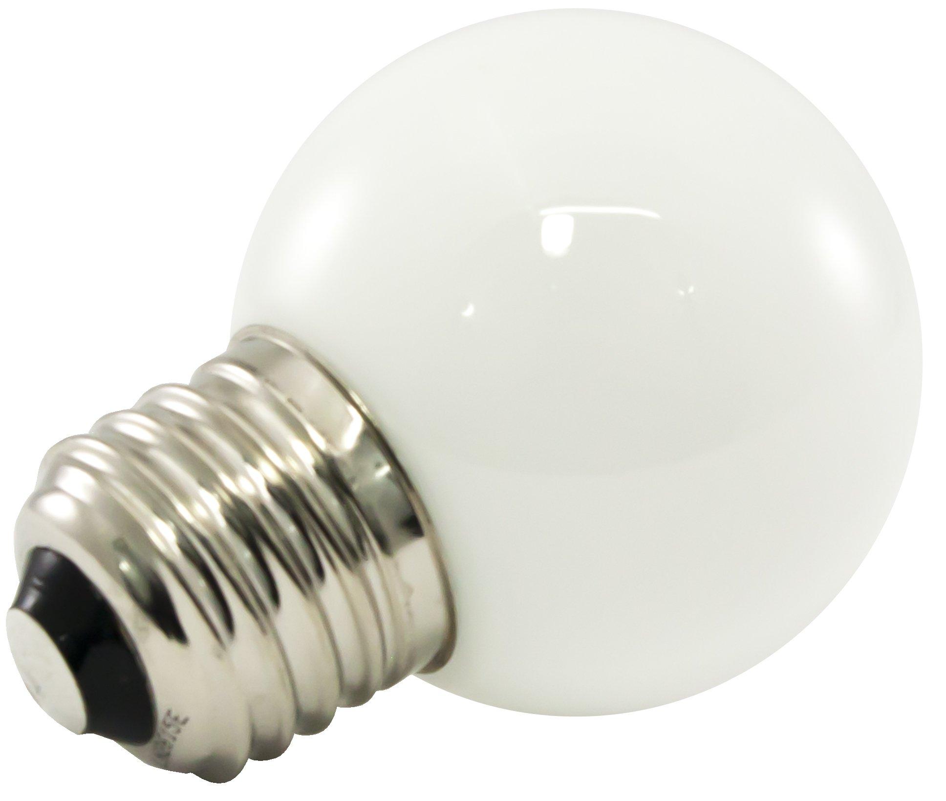 American Lighting Dimmable LED G50 Opaque Globe Light Bulbs, E26 Medium Base, 2700K Warm White, 25-Pack