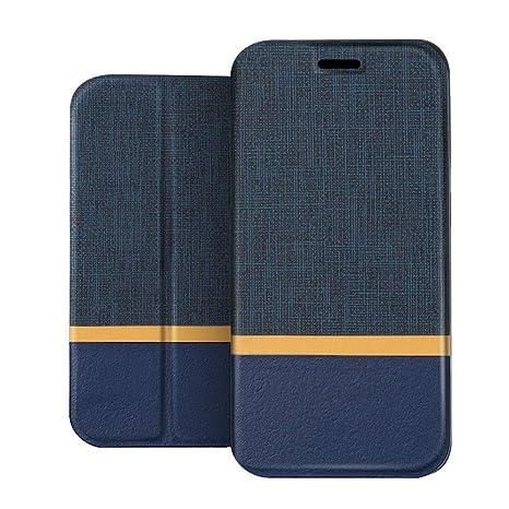 RIFFUE Funda Huawei Y7 Prime o Huawei Y7 2017, Carcasa PU Delgada de Estilo Vaquero Protectora de Folio Flip Case para Huawei Y7 Prime o Huawei Y7 ...