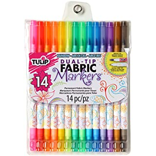 Tulip Dual Tip Fabric Markers 14 Pack - Fine Tip & Brush Tip