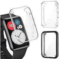 PUBUNUS 2 Piezas Funda con Protector de Pantalla Compatible con Huawei Watch Fit, Resistente a Rayones TPU Protector de…