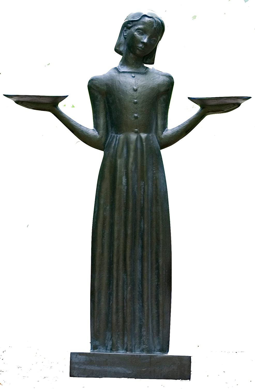 "Bird Girl Large with Pedestal ""37.5h"