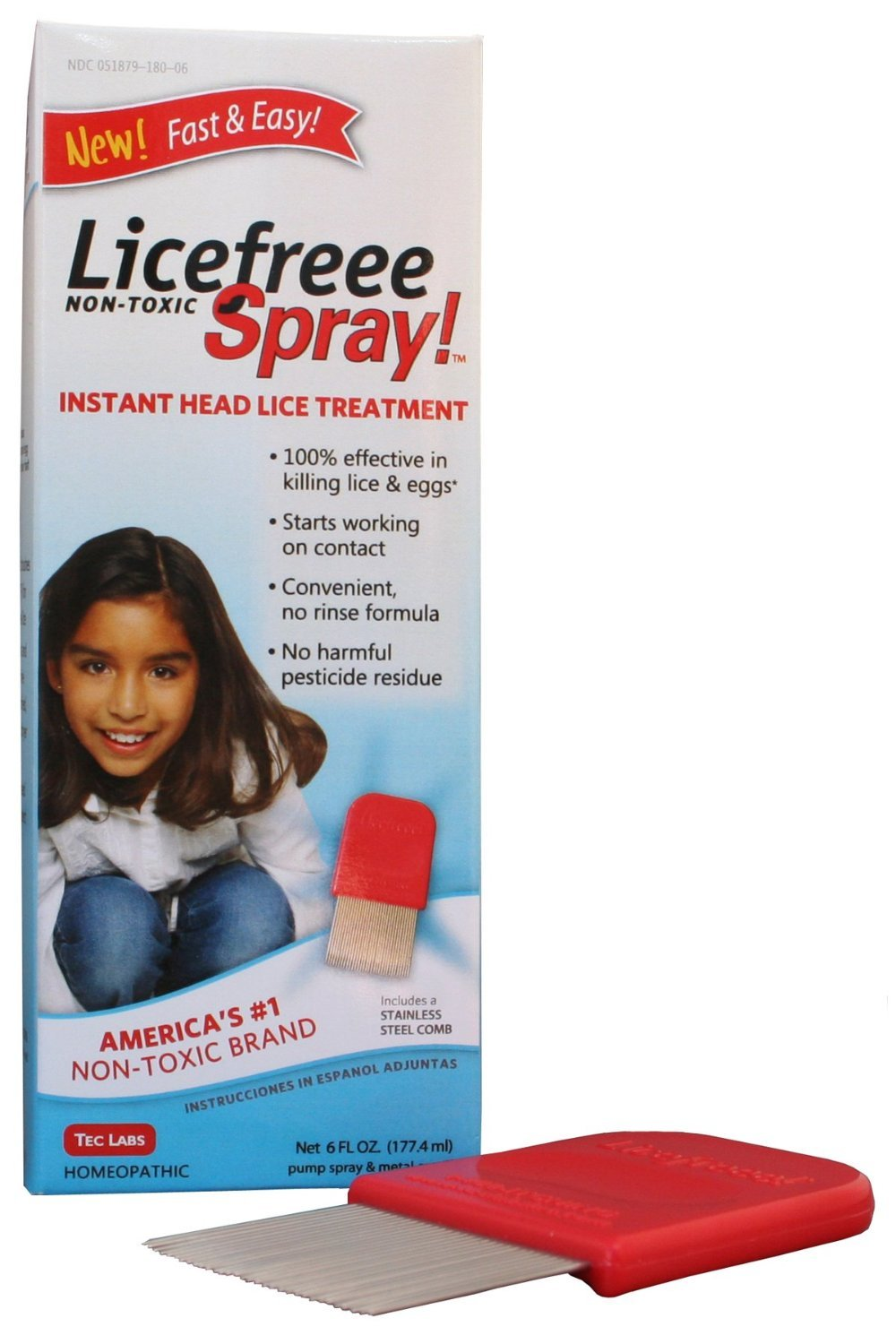 PACK OF 3 - LICE FREEE SPRAY NON-TOXIC 6OZ