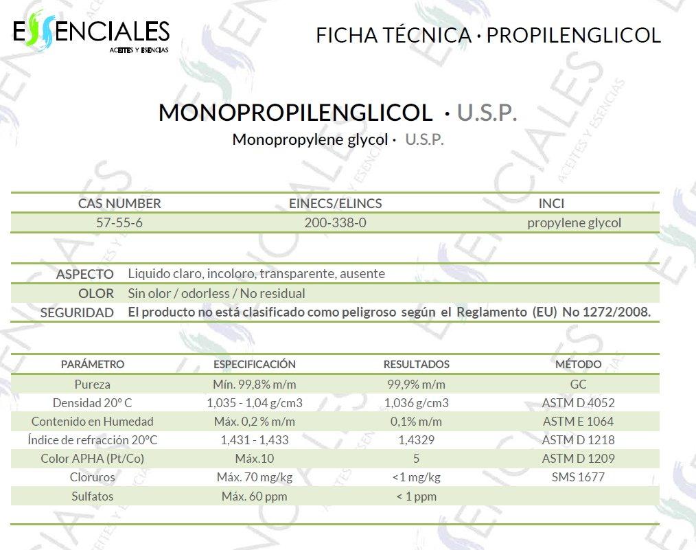 Propilenglicol USP - Pureza Certificada - 1 litro - PG Base