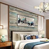 practicalWs 24''×118'' Distressed Wood Wallpaper Self-Adhesive Peel and Stick Wall Paper Removable Wooden Wall Covering…