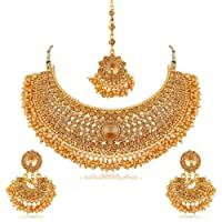 Apara Gold Plated Choker Necklace Set for Women