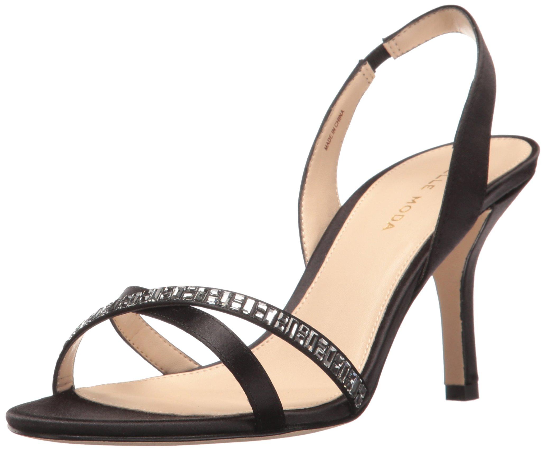 Pelle Moda Women's Inna Dress Sandal, Black, 6.5 B US