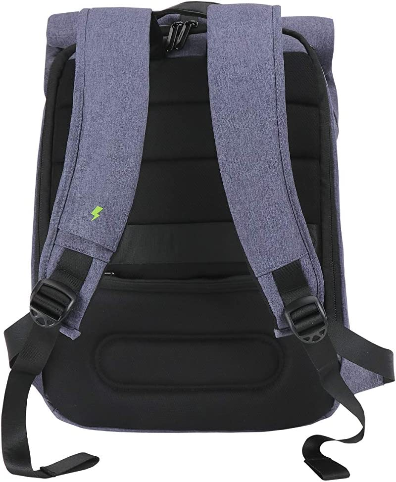 SD702-B SwissDigital Switch Laptop Travel Backpack with Prewired USB Charging and RFID Protection Fits Laptops up to 14 inches Blue