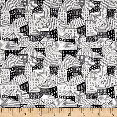 - Andover Around Town Abodes Film Noir Fabric by The Yard