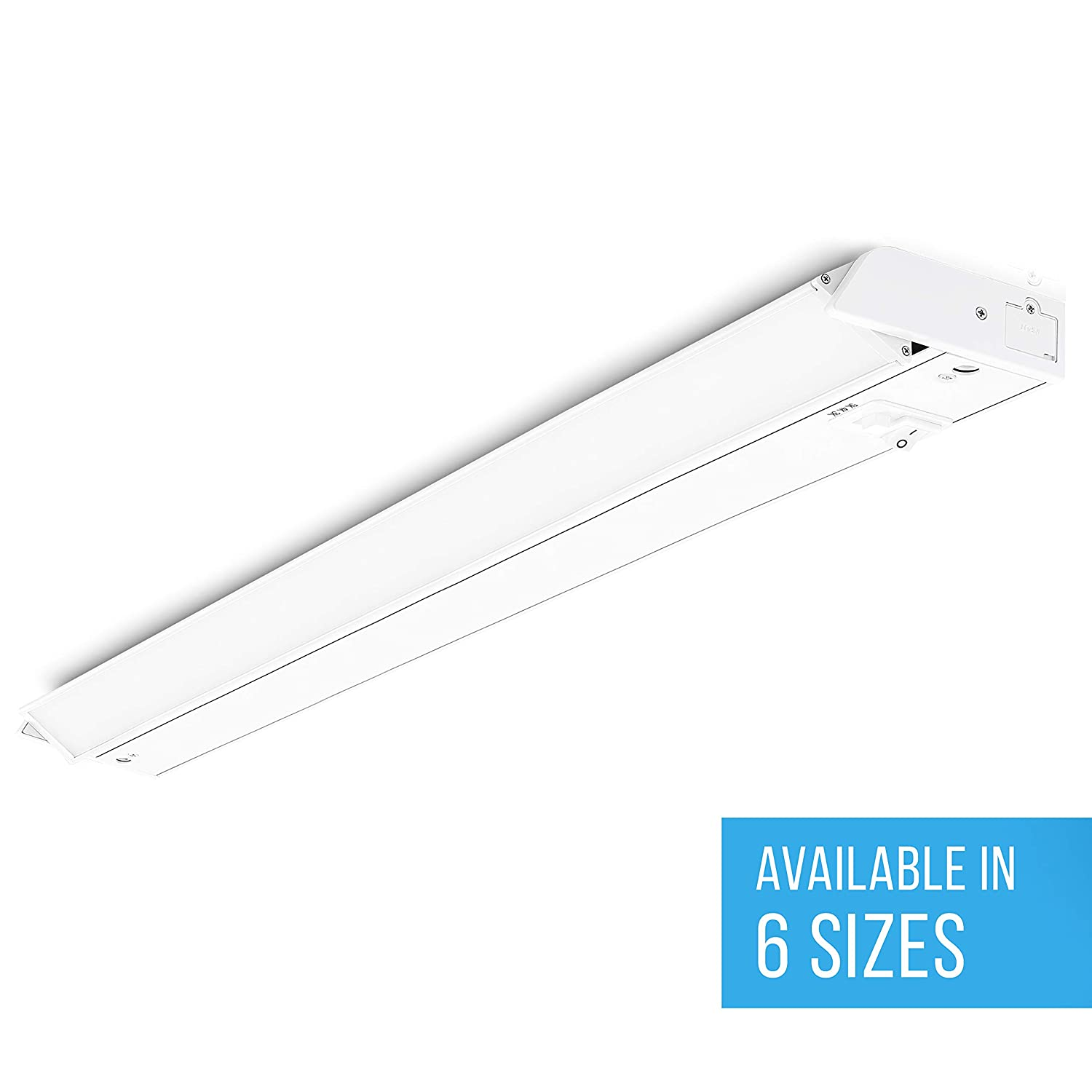 Parmida LED Swivel Under Cabinet Light (Adjustable Lens Angle), 32 Inch, 18W, 1080lm, Dimmable, Linkable, 3-in-1 Color Levels, Hardwire or Plug-in, On/Off Switch, ETL & ENERGY STAR, 120V