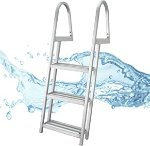 Pool Side Dock Ladder Stair 3 Step Support up to 350 Pound