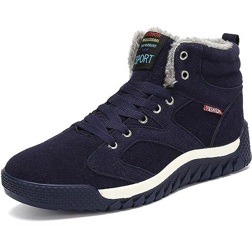 Homme des Chaussures d hiver Bottes de Neige Chaude Fourrure Chaussures de  Plein Air Antidérapant 5979ac14efc6