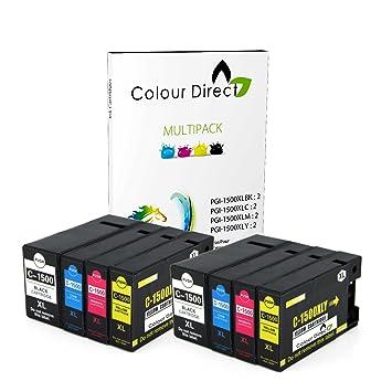 Colour Direct 8 (2 Juegos) PGI-1500XL Compatible Cartuchos de ...