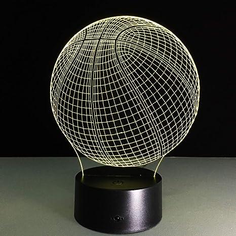 wangZJ 3d Night Light Led Baloncesto Lámpara de ilusión óptica / 7 ...