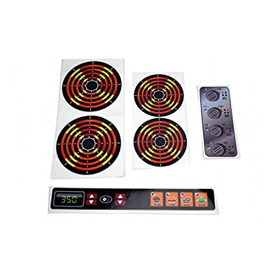 Decals Stickers DIY Kids Play Kitchen 4 Burners Dials and Oven Panel Toy Stove Pretend Glossy Full Color: Toys & Games