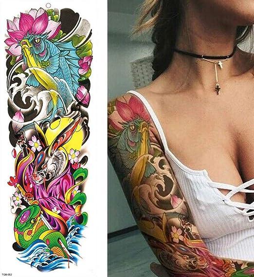 3 Piezas Tatuaje de Gran tamaño de Pierna de Brazo Completo para ...