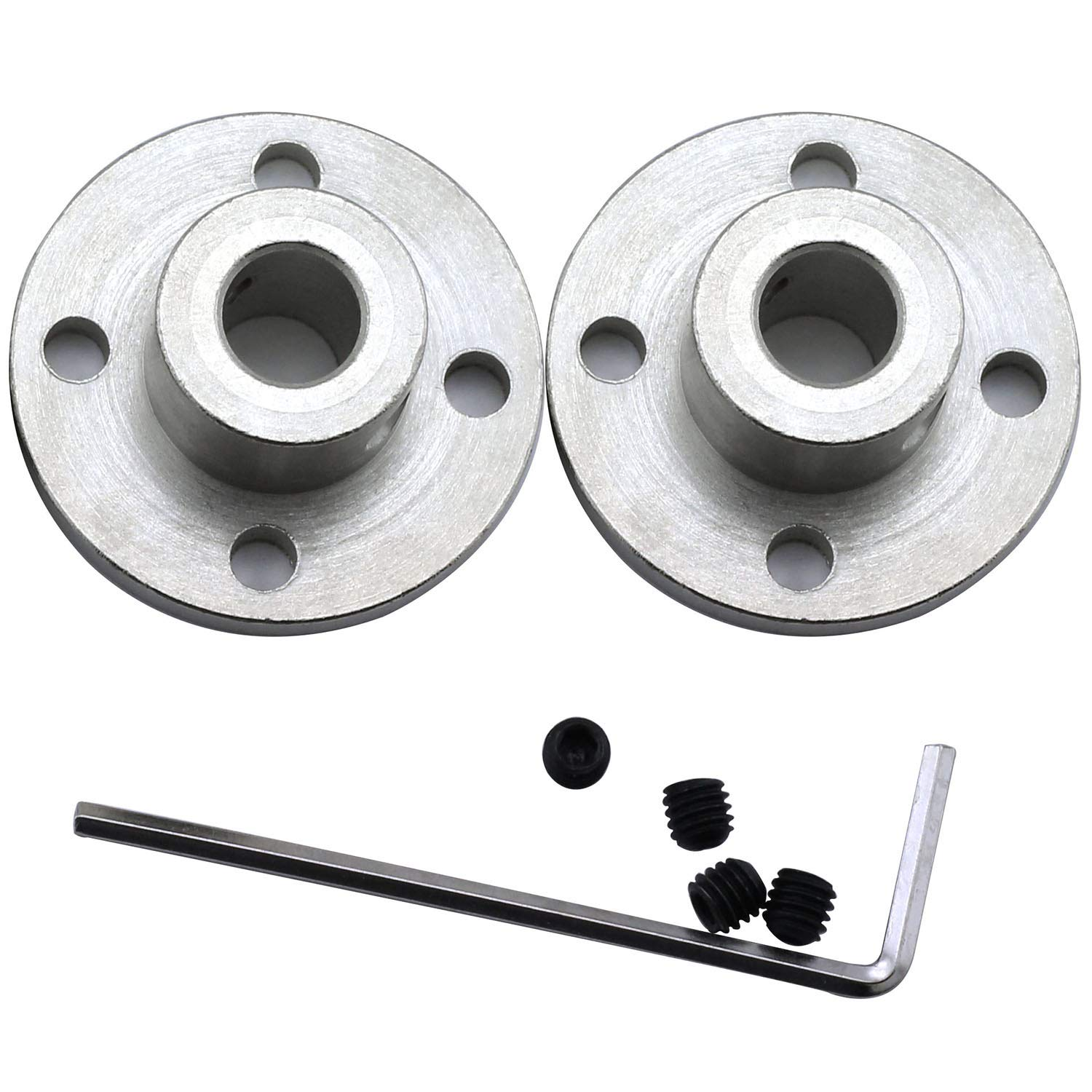 Magic&shell 2-Pack 8mm Flange Shaft Coupling High Hardness Metal Axis Bearing Fittings DIY Model Accessory Rigid Flange Guide Shaft Coupler Motor Connector