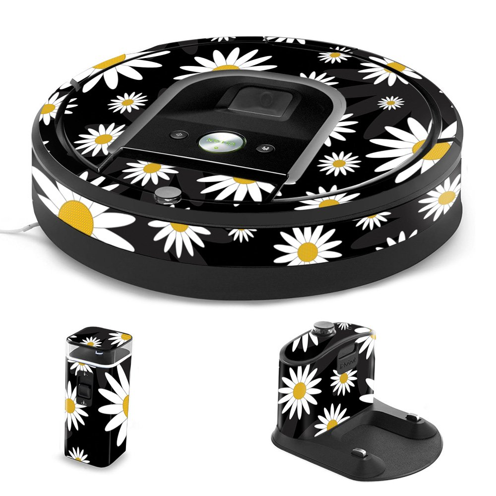 MightySkins Skin for iRobot Roomba 960 Robot Vacuum - Daisies | Protective, Durable, and Unique Vinyl Decal wrap Cover | Easy to Apply, Remove, and Change Styles | Made in The USA