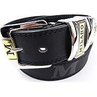 Mens Black Leather Belt Designed By Milano