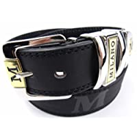 Mens Black Leather Belt Designed By Milano
