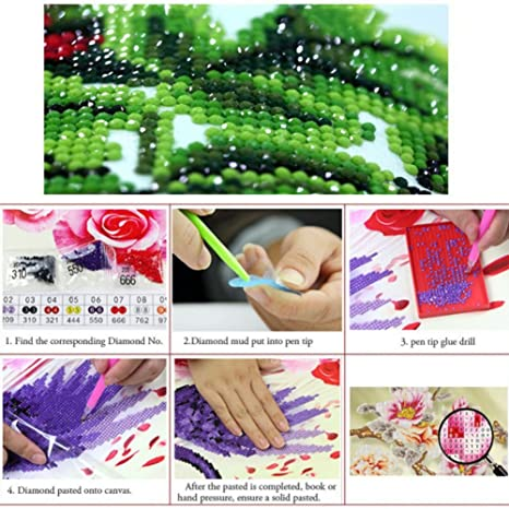 amazon com adarl 5d diy diamond painting rhinestone pictures of crystals embroidery kits arts crafts sewing cross stitch baby tiger with butterfly