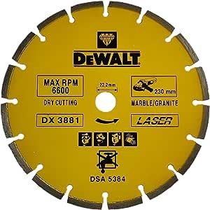 DeWalt Diamond wheel marble/granite 230 x 22.23mm laser segmented blades / marble and granite , Yellow/Black, DX3881