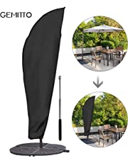 GEMITTO Umbrella Cover, Waterproof Patio Offset Umbrella Cover with Zipper for 9-11ft Outdoor Cantilever Parasol Umbrellas Oxford Fabric