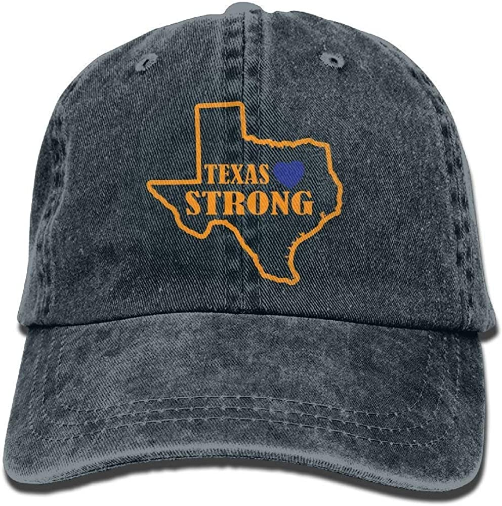 bowlife Texas-Strong Unisex Denim Baseball Cap Adjustable Snapback Hats