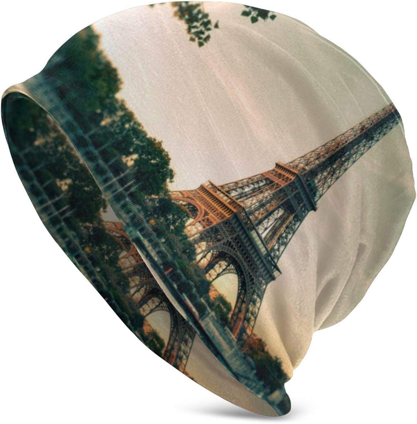 QUEMIN Bolsas Varios tamaños Hermosa Torre de París Gorra de Calavera de Conejito Lindo Gorro elástico Gorros Holgados Sombreros de Moda de Punto de Invierno para Mujeres Hombres