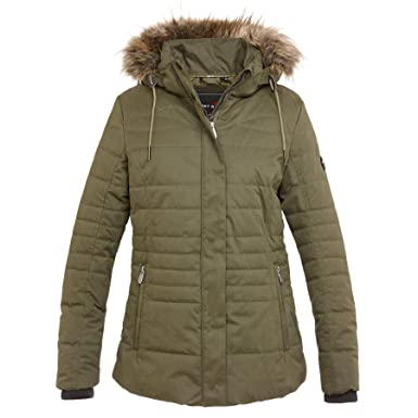 First B Damen Winterjacke gef/ütterte Jacke modern w/ärmend Outdoorjacke