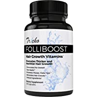 Tricho: Folliboost Hair Growth Vitamins - with Biotin, Vitamin C, Zinc, and Vitamin B12-30 Day Supply - Promotes Thicker & Healthier Hair Growth - Natural Hair Care Formula - Made in The USA
