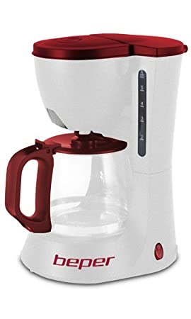 Beper 90.395h – Máquina Café Americano beperoncino 600 W con jarra de cristal capacita