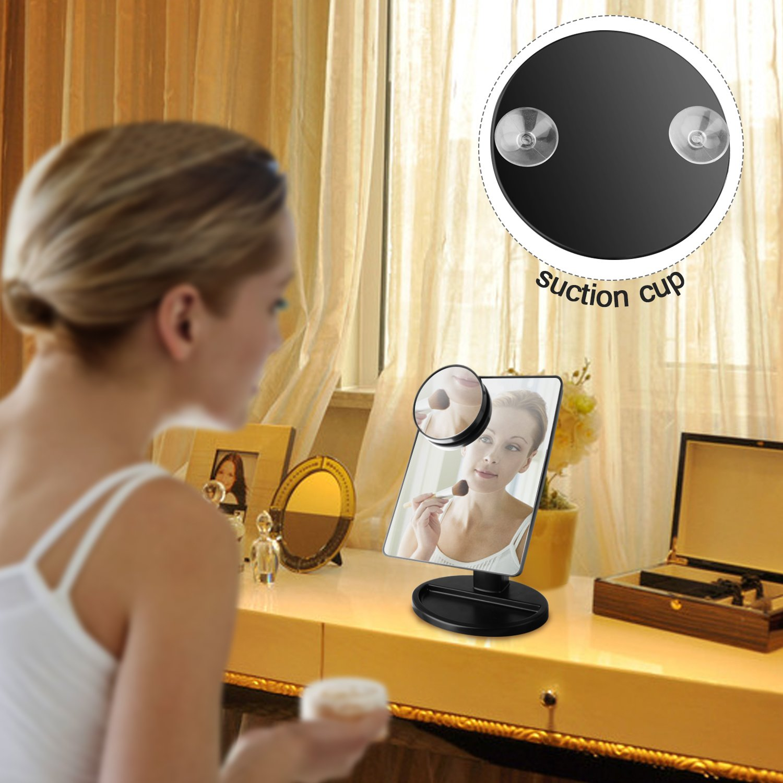UHIBROS 10X Magnification Makeup Mirror Cosmetic Mirror