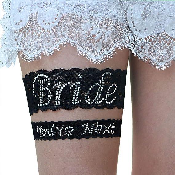 You are Next Wedding Garter Embroidery Bride Garter Lace Blue Garters Set