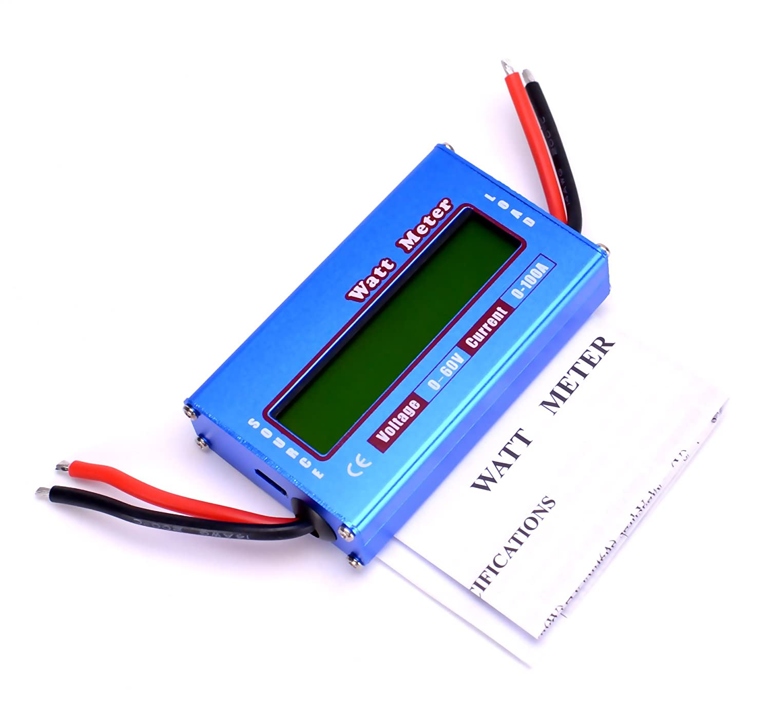 Rc Watt Meter Dc 60v 100a Power Analyzer Digital Lcd Balance Battery Trolling Motor Plug Wiring Diagram 3 Wire Connecter Voltage Checker Volt Amp