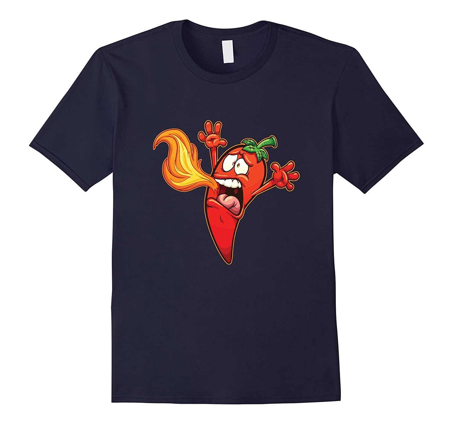 Emoji Shirt Funny Chilli Pepper Hot Sauce Food Lover-T-Shirt