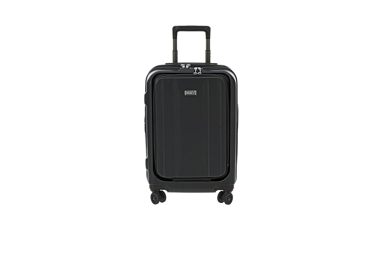 [ストラティック] スーツケース ストレート 機内持込 フロントオープン ビジネスキャリー 機内持込可 保証付 30L 55cm 2.99kg 3-9910-55  ブラック B06XGCD8GS