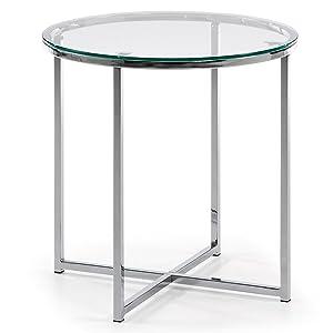 Mesa de Centro Divid 50 cm, Cristal Transparente