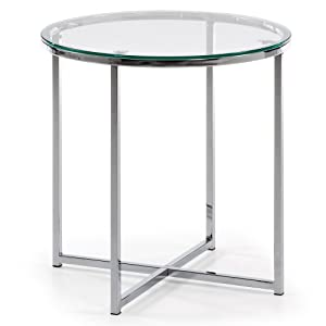 Kave Home Mesa de centro Divid 50 cm, cristal transparente