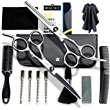 Hair Cutting Scissors Set – 14 Pc Haircut Kit for Men or Women – Sharp Professional Hairdressing Scissors – Durable Thinning