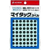 ニチバン マイタック カラーラベル 8mm ML-1516 黒