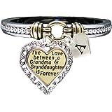 Holly Road Bracelet Custom Love Between Grandma & Granddaughter is Forever Silver Jewelry