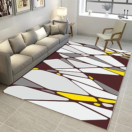 Ommda tappeti Salotto Soggiorno Moderni Home 3D Geometric Printing tappeti  Soggiorno Pelo Corto Antiscivolo Lavabili 80x160cm 9mm