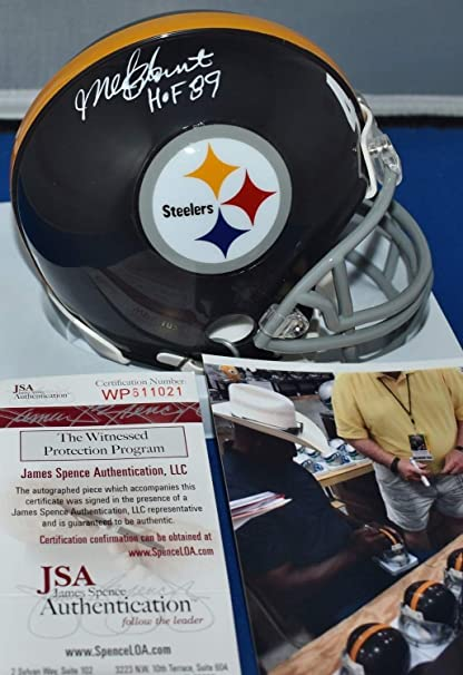 dc1a39430 Mel Blount Autographed Signed Custom Mini Helmet Pittsburgh Steelers Hof  1989 JSA