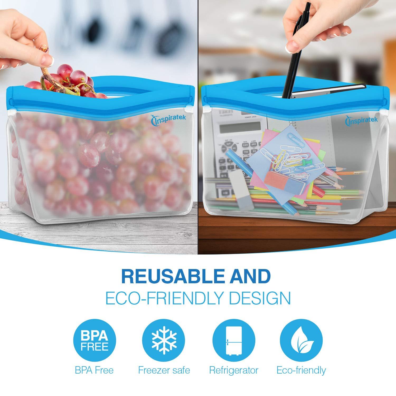 Amazon.com: Bolsas de almacenamiento reutilizables (juego de ...