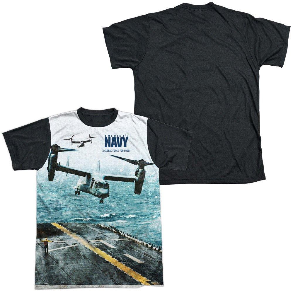 Navy Osprey Adult Black Back 100/% Poly T-Shirt